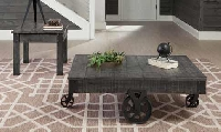 Coaster, Rustic Grey occasional table