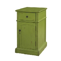 Green chair side cabinet