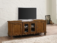 Warm brown TV console