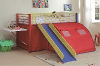 Multi-color twin loft bed