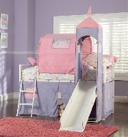 Princess castle twin loft bed