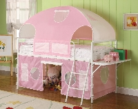 Sweetheart twin size tent bed
