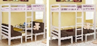 Convertible twin/twin loft bed