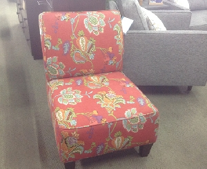 Red Floral Chair