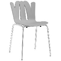 Flare dining side chair in gray