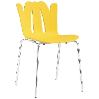 Flare dining side chair in yellow