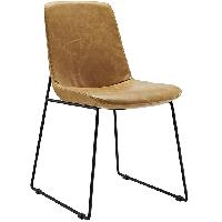 Invite dining vinyl side chair in tan