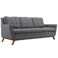 Beguile fabric sofa in gray