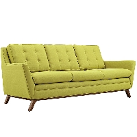 Beguile fabric sofa in wheatgrass