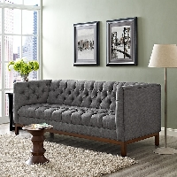 Panache fabric sofa in gray
