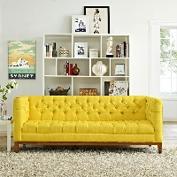 Panache fabric sofa in sunny