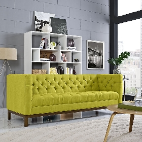 Panache fabric sofa in wheatgrass