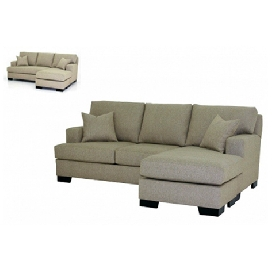 April ottoman convertible sofa chaise sectional with 2 seats
