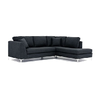 Raymond 2pc condo bumper chaise sectional