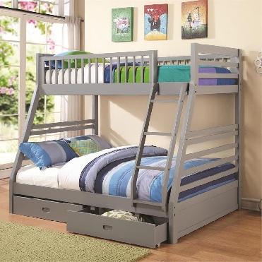 Ashton Grey twin full bunk bed