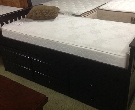 Black Daybed With Trundle and Drawers