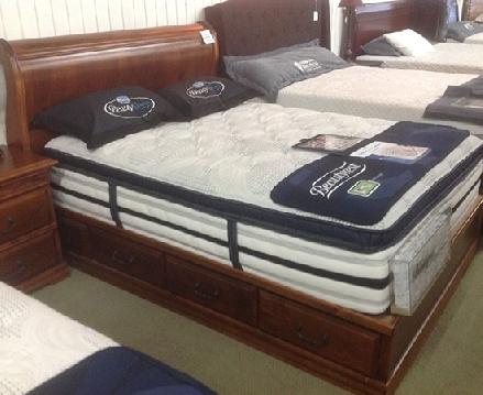 Alder Storage Sleigh Bed